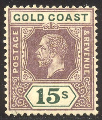 GOLD COAST #94 Mint - 1921 15s Dull Violet & Green