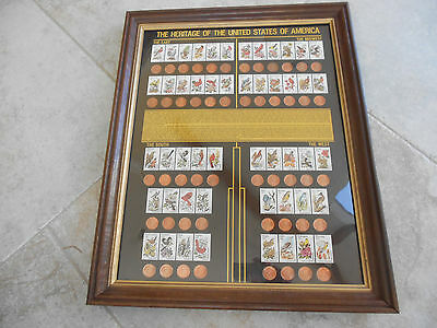 1 Stamped US Lincoln 50 State Penny Collection with matching reproduction stamps