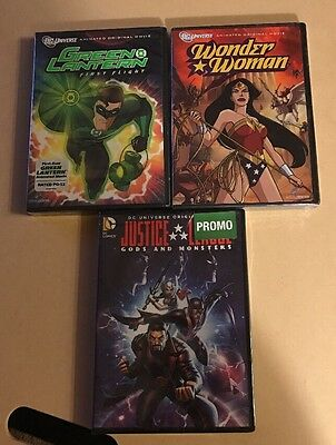 Lot Of 3 DC Universe Original Movies Brand New DVDs FREE Shipping