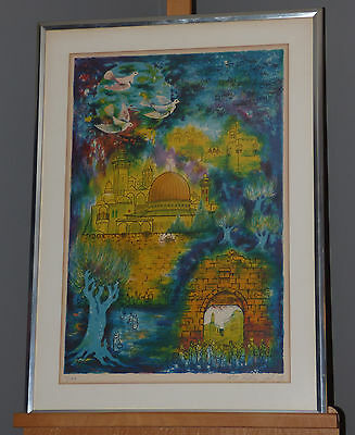 """Zvi Livni """"Peace to Your Jerusalem"""" Lim. Ed. Signed Lithograph Listed Artist"""