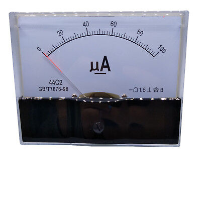 US Stock DC 0~100uA Class 1.5 Accuracy Analog Amperemeter Panel Meter Gauge 44C2