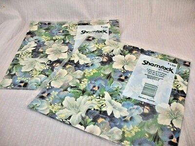 VINTAGE Gift Wrap Paper LOT OF 4 PKG PURPLE PANSY WHITE LILY 8 Sheets NIP ~40D7