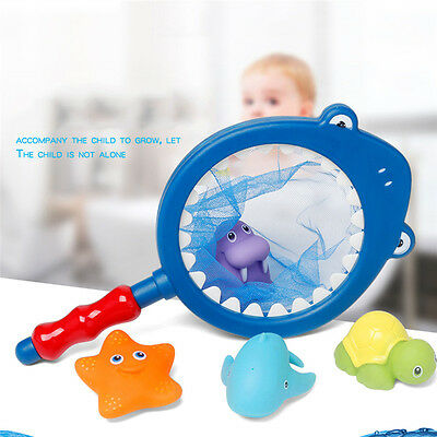 Kids Net and Shark Fish Water Floating Toys for Baby Bathtime Play Fun Swimming