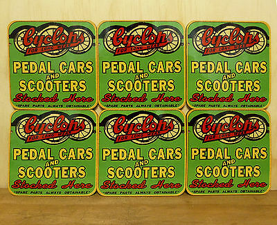 Drink Coaster Set Of 6 - Cyclops Pedal Cars And Scooters