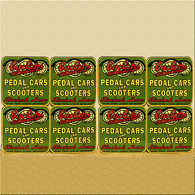 Drink Coaster Set Of 8 - Cyclops Pedal Cars And Scooters