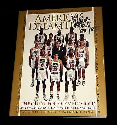 Nba David Robinson Americas Dream Team Hand Signed Autographed Book With Coa