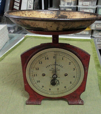 #ZZ. OLD PERINWARE No. 14 HOUSEHOLD SCALES - 14 LBS