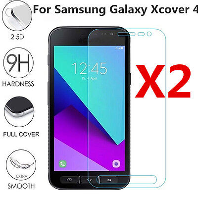 2x 9H Premium Tempered Glass For Samsung Galaxy Xcover 4 Screen Protector U87