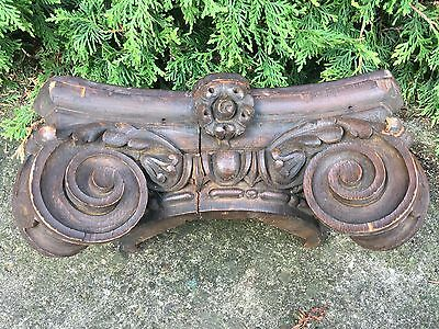 Carved Capital Corbel Antique Victorian Shelf Spandrel  Architectural Salvage