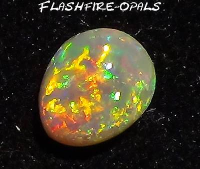 1.8ct GEM NOBBY OPAL BRILLIANZ 5 !! GOLD/ORANGE/ROT/GRÜN  Video. FLASHFIRE-OPALS