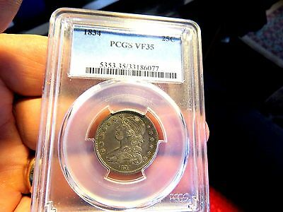 Scarce 1834 Pcgs Vf35 Capped Bust Quarter A Beautiful Coin