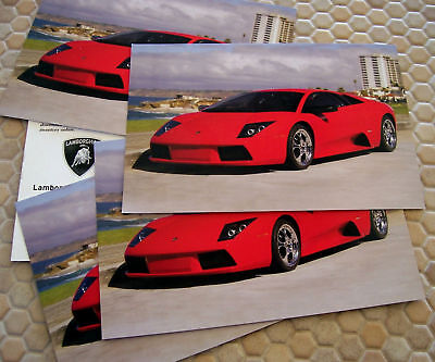 LAMBORGHINI OFFICIAL MURCIELAGO POSTCARD BROCHURE SET OF x5 2003 USA EDITION