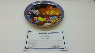 "Danbury Mint ""and Now For Dessert"" Garfield Collector Plate (St5014950)"
