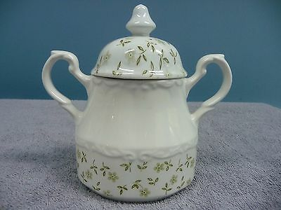 Vintage J & G Meakin Forget Me Not Sugar Bowl With Lid