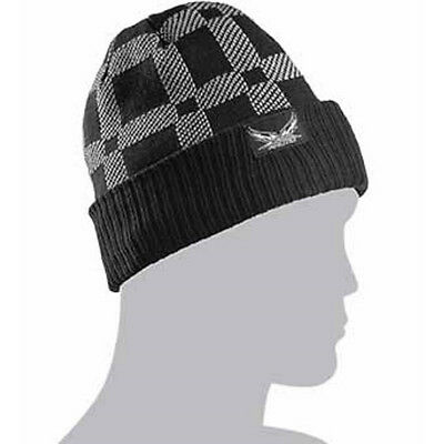 Arctic Cat Adult Team Arctic Plaid Beanie Hat - Gray / Black - 5253-158