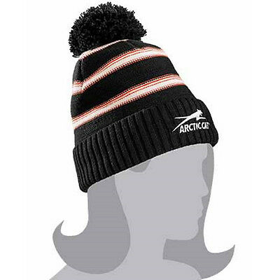 Arctic Cat Women's Aircat Watchman With Pom Beanie - Orange / Black - 5253-171