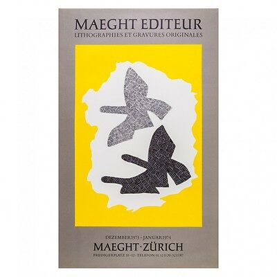 Georges Braque Original Lithograph Maeght Zurich 1973