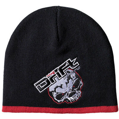 Drift Racing Adult One Size Skull Beanie Winter Hat - Black / Red - 5245-509