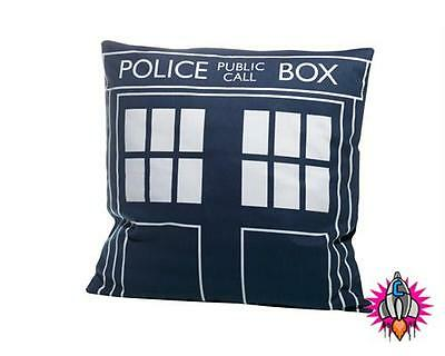 Official Dr Doctor Who Tardis Police Box Cushion Pillow New With Tags