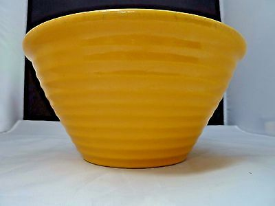 "VINTAGE BAUER POTTERY 8"" yellow ribbed  MIXING BOWL - SUPER BRILLIANT COLOR! WOW"