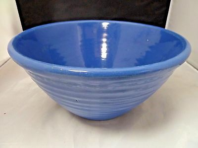 VINTAGE BAUER POTTERY  blue  MIXING BOWL - SUPER BRILLIANT COLOR! WOW # 12
