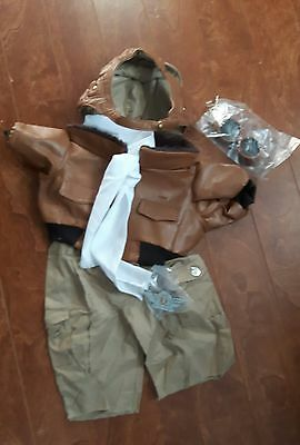 New Orville T. Furskin moody Hollow Bear Corp aviator suit goggles Wings