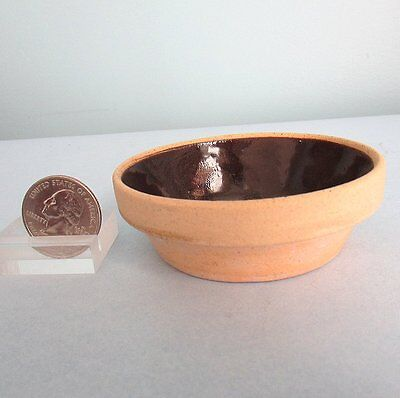 YELLOWWARE Pottery Mixing Baking Bowl Miniature Sample DOLL Child Vintage