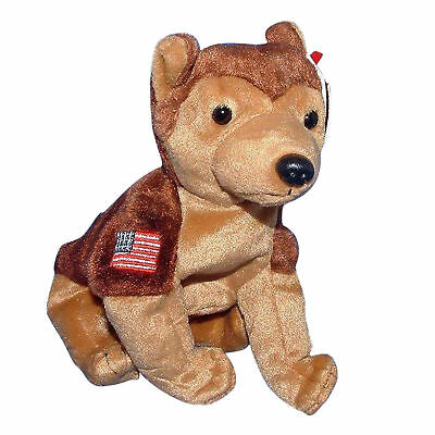 Ty Beanie Baby Courage - MWMT (Dog NYPD)