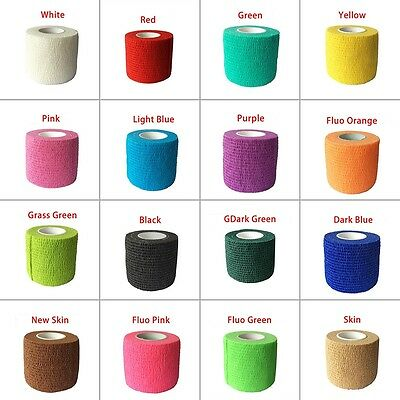 New Cohesive Elastic Bandage Head Sports Wrap Sock Fitness Sport Cohesive Tape