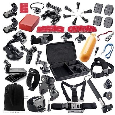 44 in1 Head Chest Mount Strap For GoPro Hero 2 3 3+ 4 Camera Accessories Set Kit