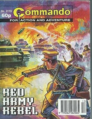 Red Army Rebel,commando For Action And Adventure,no.3119,war Comic,1998