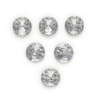 50pcs Round Acrylic Buttons Sewing Scrapbooking Handwork Clothing Decor 13mm