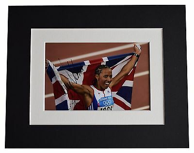 Kelly Holmes Signed Autograph 10x8 photo display Olympic Athens 2004  AFTAL COA