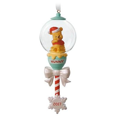 Hallmark 2017 Baby's First Christmas Disney Winnie the Pooh Rattle Ornament