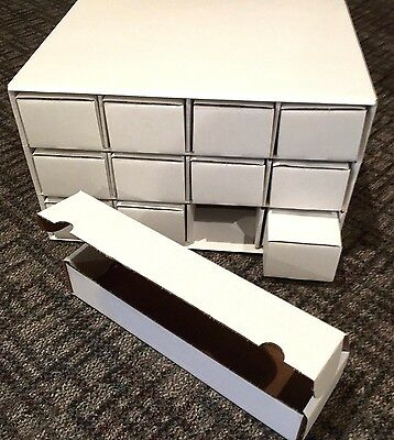 2 New Card House Box with 24 New 800 Archival Cardboard Storage BCW