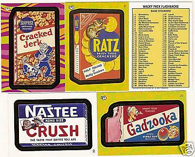 2008 WACKY PACKAGES Flashback Series 1 Set   72 Cards
