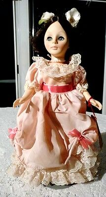 1979 Effanbee GiGi Victorian Doll w/ Stand, Moveable Joints