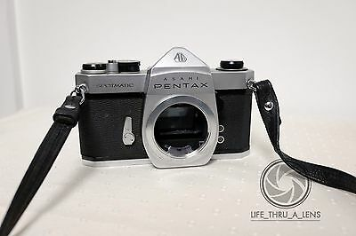 Pentax Spotmatic SP 35mm SLR Film Camera Body Only with strap