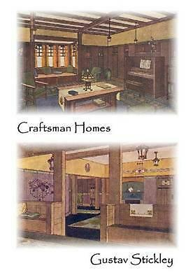 Craftsman Homes by Gustav Stickley (English) Paperback Book Free Shipping!