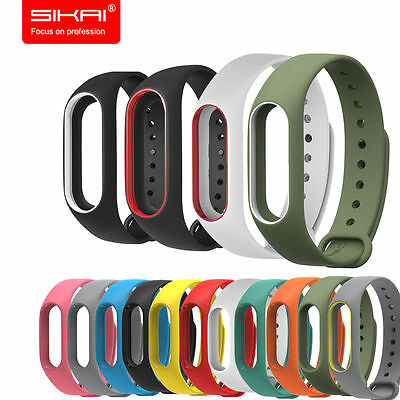 for XIAOMI MIBand 2 Original Silicone Wrist Strap WristBand Bracelet Replacement