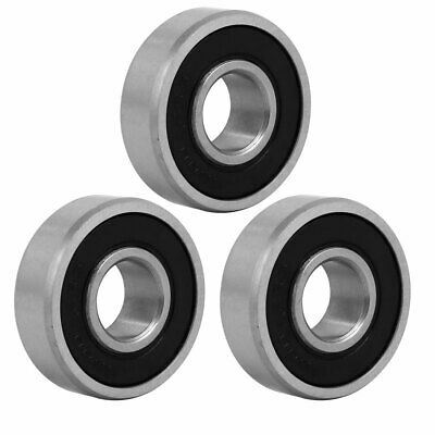 3 Pcs 26mmx10mmx8mm Stainless Steel Rubber Sealed Deep Groove Ball Bearing
