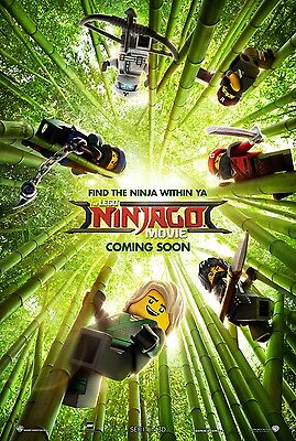 "LEGO NINJAGO MOVIE 2016 Advance Vers B DS 2 Sided 27x40"" US Movie Poster O Munn"