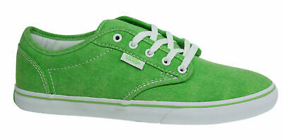 Vans Atwood Low Canvas Lace Up Green Womens Trainers Plimsolls NJO6HB U118 d8404a36c