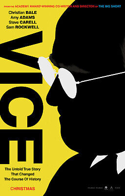 """VICE 2018 Advance Teaser DS 2 Sided 27x40"""" US Movie Poster Christian Bale Adams"""