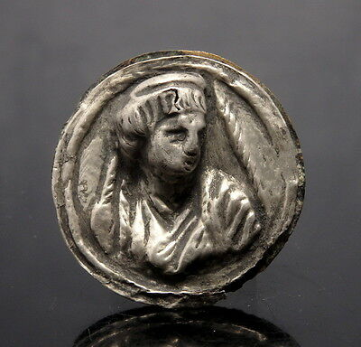 Roman Silver Repousse Of Female Bust (L176)