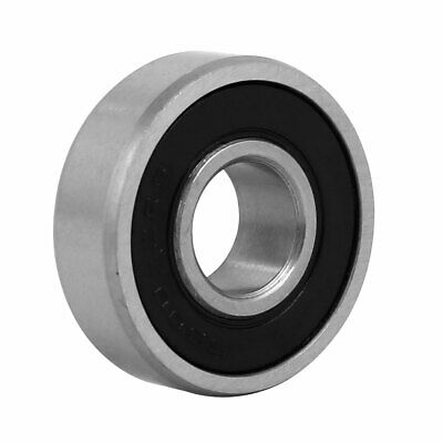 26mmx10mm Stainless Steel Double Sealed Deep Groove Ball Bearing Silver Tone