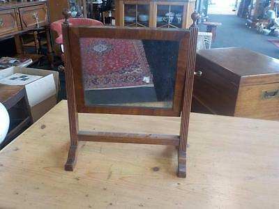 Edwardian Mahogany Dressing Table / Toilet Mirror Free Standing Mirror