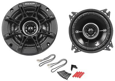 "Pair New Kicker 41DSC44 4"" D-Series 120W Peak/30W RMS 3-Way Car Speakers DSC4"