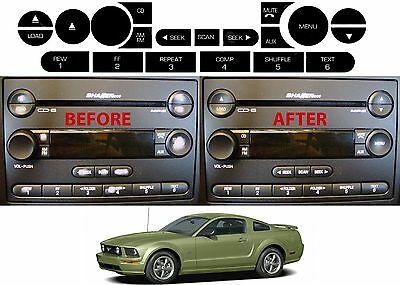 Replacement Radio Button Stickers For 2005-2006 Ford Mustang Shaker 500 New USA