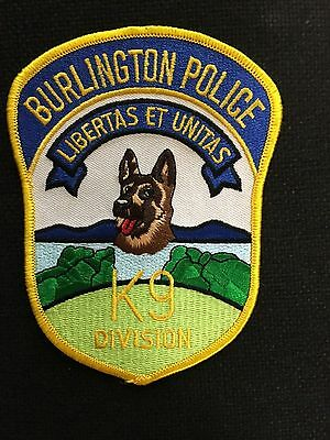Burlington Vermont Police K-9  Shoulder Patch